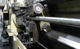 Turning a hot rolled bar
